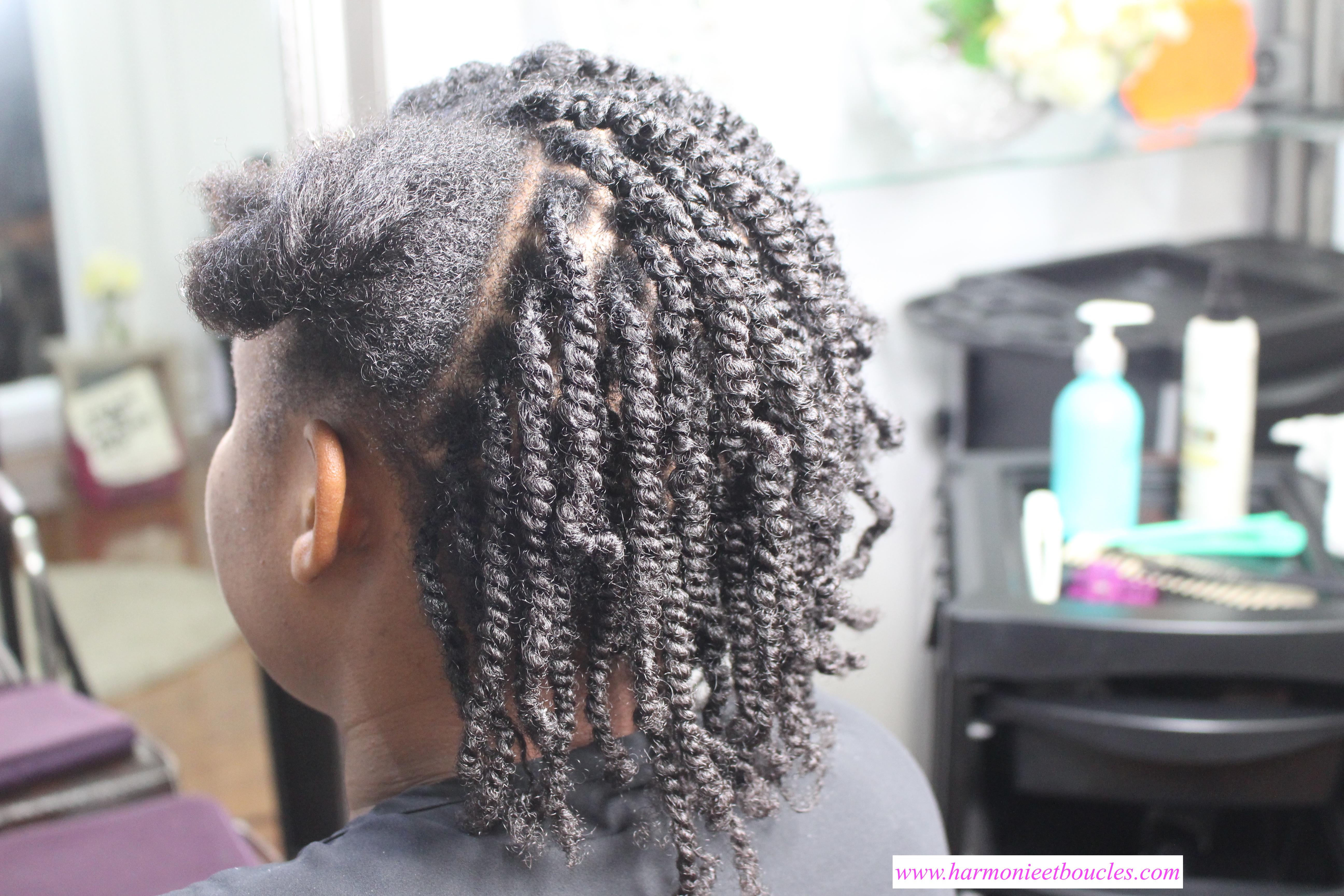 Idée coiffure  Vanilles et nattes collées au salon Fleur